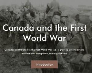 canada world war 1 introduction