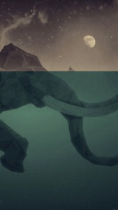 elephant-illust-sea-swim-art-34-iphone6-plus-wallpaper
